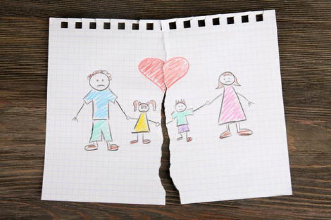 dessin Divorce Séparation Droit Garde Enfant